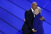 YES she can and YES she should: Emotional Obama passes baton to Clinton – as it happened