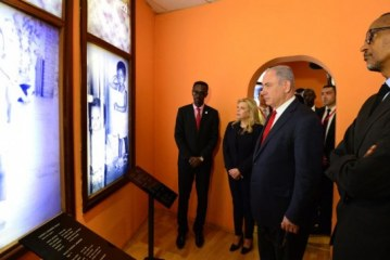 In Rwanda, mourning the horrors of genocide, Netanyahu sets out a vision of how to prevent it