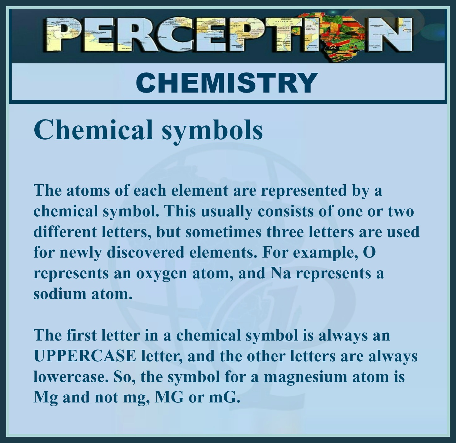 Chemical Symbols Perception
