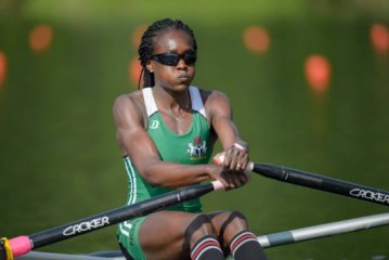 Nigeria's Chierika Ukogu wins the Olympic silver medal in rowing.