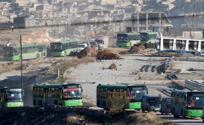 Evacuation of east Aleppo under way during ceasefire