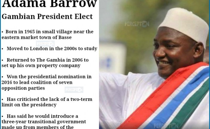 Who is Adama Barrow? Gambia's President Elect