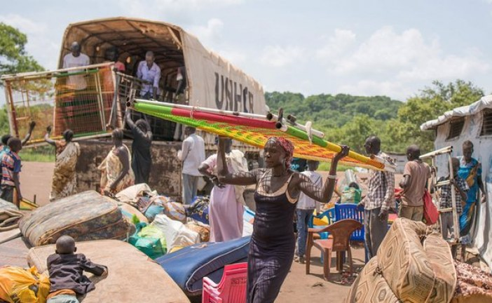 270,000 of South Sudan's refugees make Uganda Bibi Bidi camp home