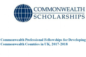 African Students: Commonwealth Professional Fellowships for Developing Commonwealth Countries in UK, 2017-2018