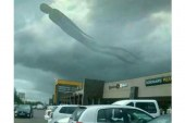 Strange figure appears in the clouds above Mukuba Mall Kitwe Zambia