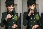 Kate Middleton smiles as she sips on Guinness in celebration of St. Patrick's day