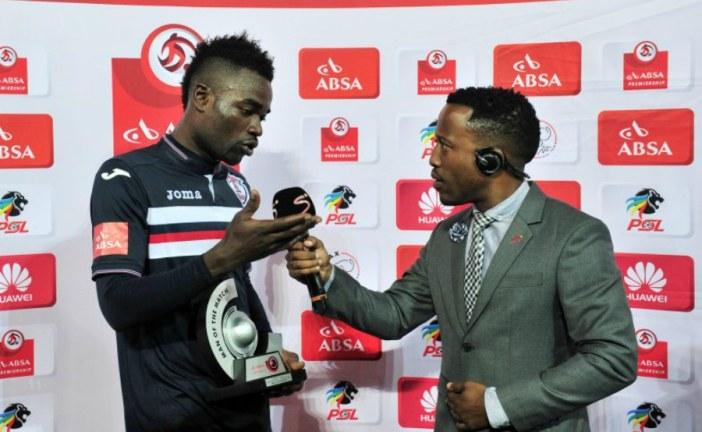 FOOTBALLER THANKS 'WIFE AND GIRLFRIEND' AFTER WINNING MAN OF THE MATCH AWARD