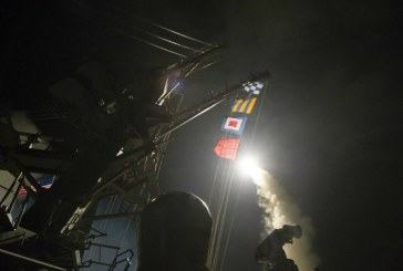 US launches cruise missiles on Syrian airbase