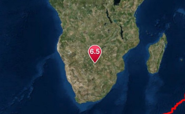 Magnitude 6.5 quake hits Botswana, two days after large quake