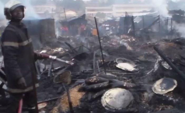 Cameroon North West: Biya Compensates Bamenda Food Market Fire Victims.