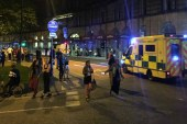 Many killed and many injured after two explosions in Manchester Arena at the end of Ariana Grande gig