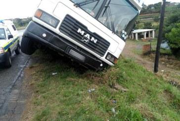 Bus overturns leaving approximately 70 children injured.