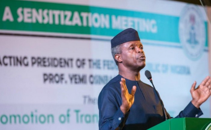 Osinbajo: Nigerians work harder praying and fasting is not enough