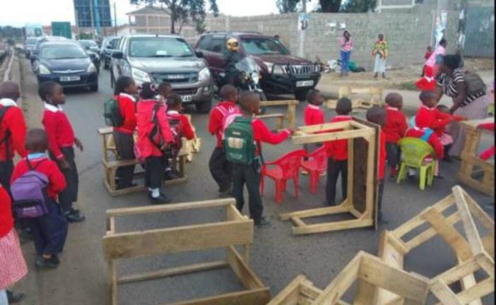 Kenyan pupils protest against school demolition