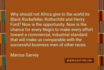Why should not Africa give to the world its Black Rockefeller, Rothschild and Henry Ford?