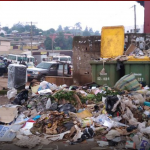 Garbage mountains continue to litter the streets in Cameroon