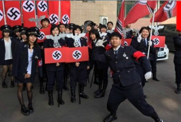 Racist Nazi fashion trend across Asia