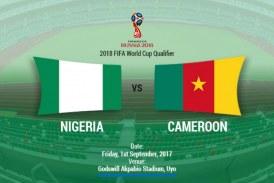 Nigeria vs Cameroon: 2018 FIFA World Cup Russia