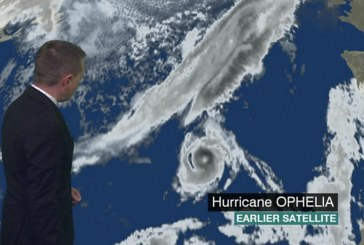 Hurricane Ophelia strengthens before storm reaches UK