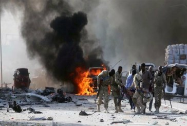 At least 20 dead in massive car bomb blast Mogadishu Somalia
