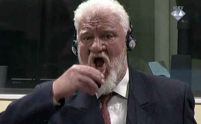 Bosnian Croat Slobodan Praljak dies on drinking poison in court