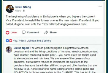"""The beginning of problems in Zimbabwe is when you bypass the current Vice President, to install the former one as the new interim President. If you hated Mugabe, wait until the """"Crocodile""""(Mnangagwa) takes over."""