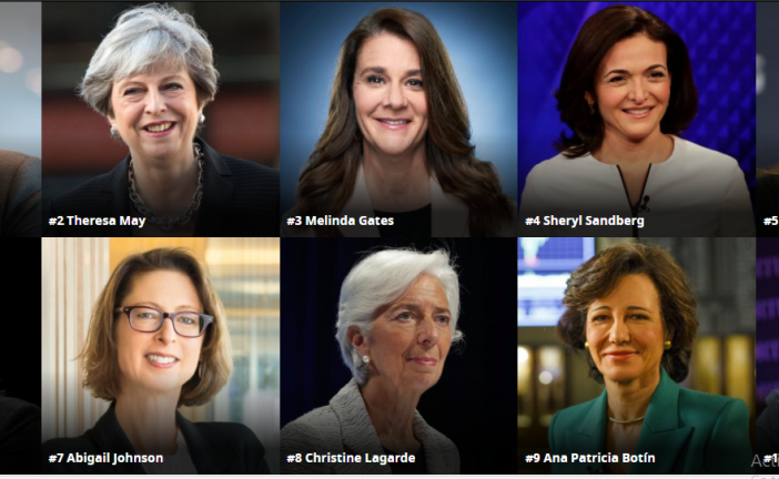 The World's 100 Most Powerful Women: No African woman made the list