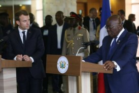 Nana Addo and Emmanuel Macron: Ghana wants trade and investment co-operations not aid