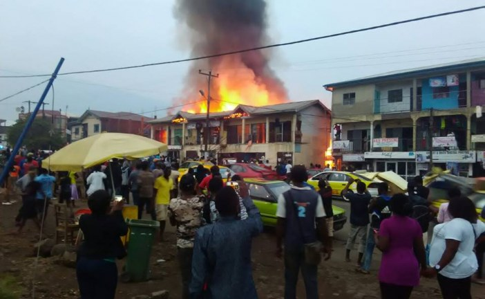 Several shops In MALINGO MOLYKO BUEA Cameroon have been ravaged by flames following a fire out break Saturday evening.