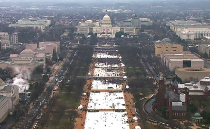 Where are the crowds: Trump's Inauguration