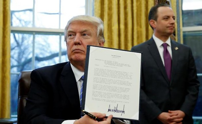 Trump withdraws US from Trans-Pacific Partnership deal