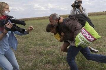 Camerawoman Petra Laszlo sentenced for kicking refugees