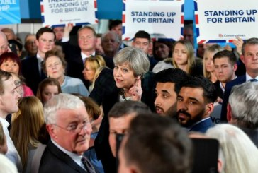 Theresa May accused of hiding from public at activist-filled event