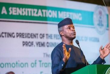 Osinbajo: Nigerians work harder praying and fasting is not enough