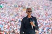 Paul Kagame: -RPF Chairman Kagame campaigning in Rusizi.