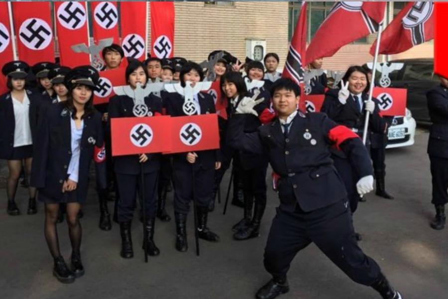 Racist Nazi fashion trend across Asia