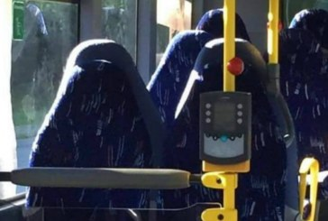 Bus seats mistaken for burqas by members of anti-immigrant group