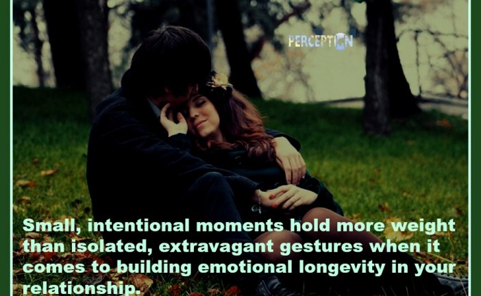 The small moments hold more weight