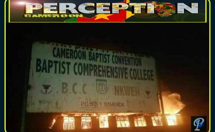 Baptist Comprehensive college Nkwen Bamenda Burnt down