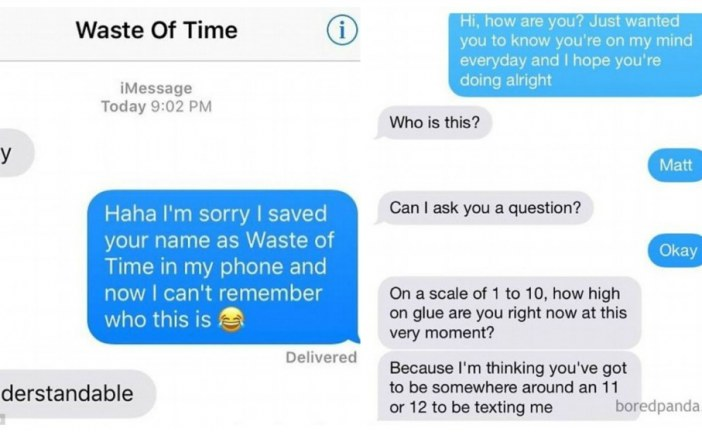 Singletons share their witty replies to unwanted texts from their exes
