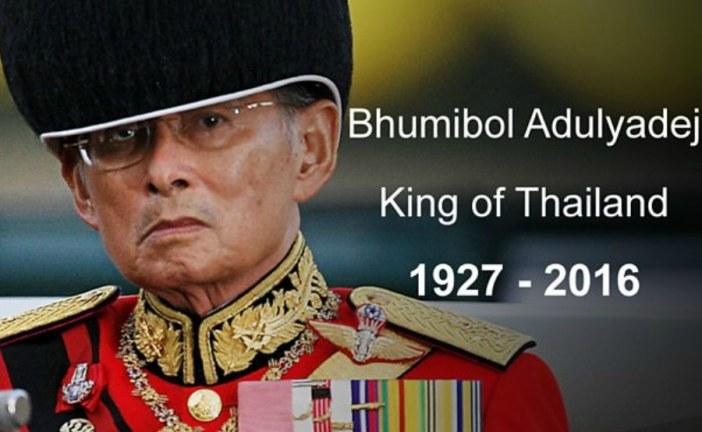 Thais say goodbye to late king Bhumibol Adulyadej
