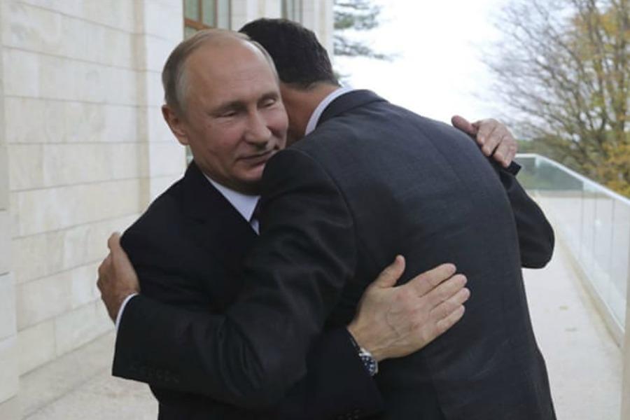 Assad thanks Putin for saving Syria